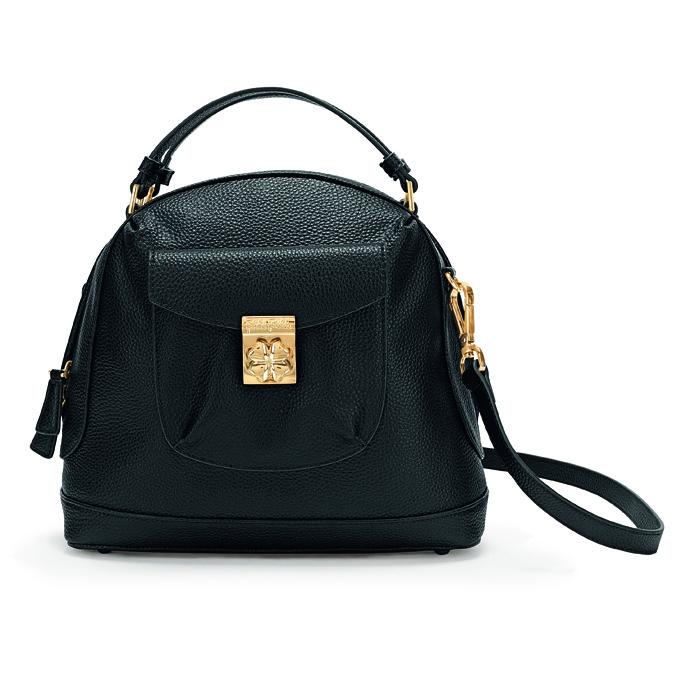 folli follie heart4heart small black bag