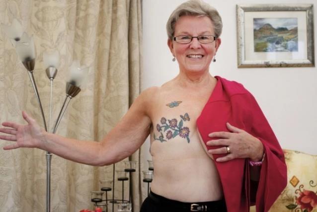 Liz's mastectomy tattoo design