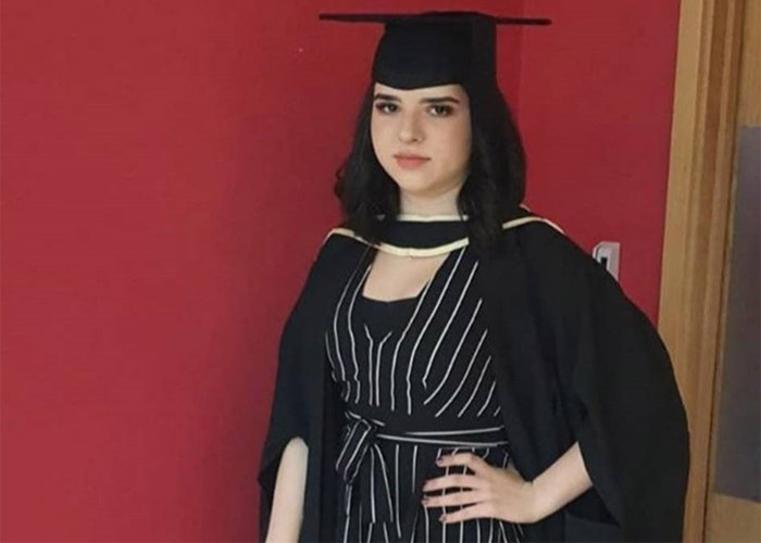 Nadia at her graduation