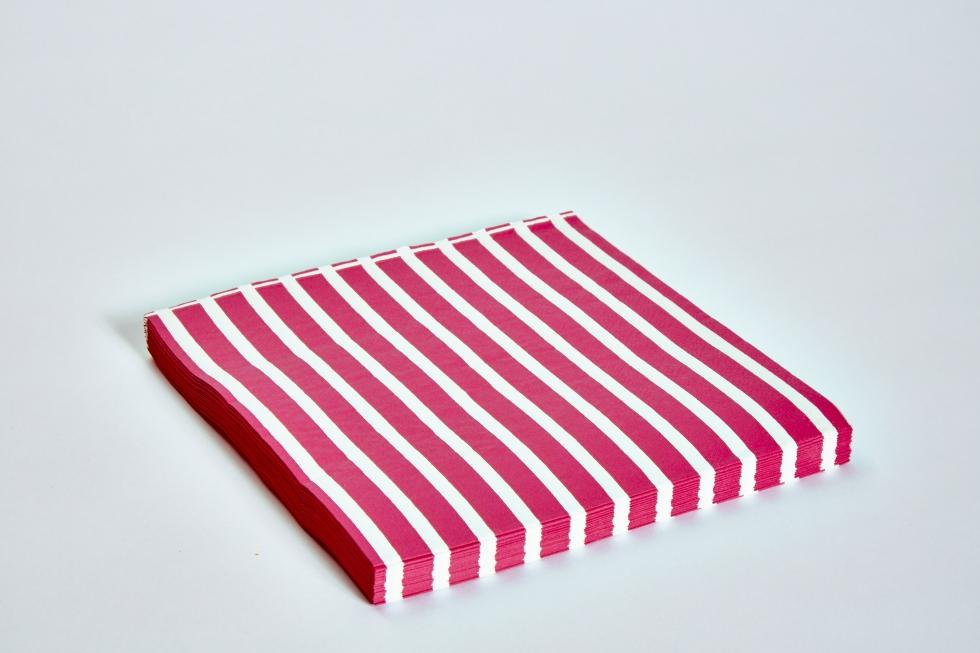 Breast Cancer Care hot pink napkins