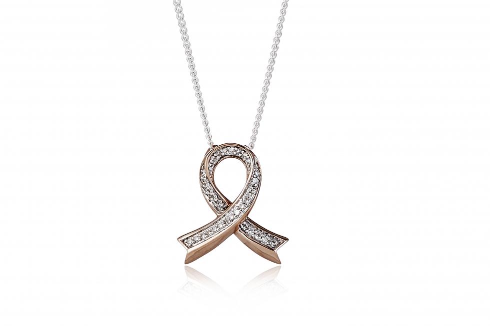 QVC Lisa Snowden Breast Cancer Care diamond wish necklace