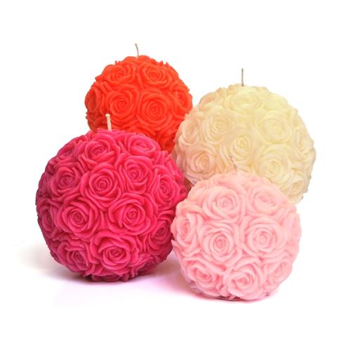 Breast Cancer Care roseball candle