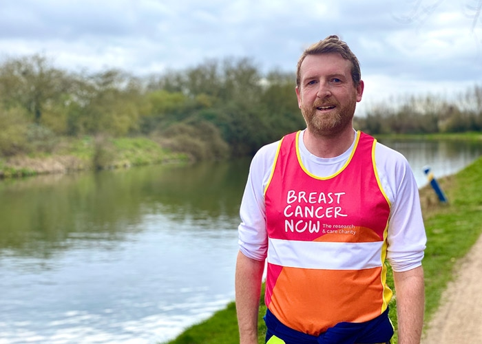 Steve in Breast Cancer Now running gear