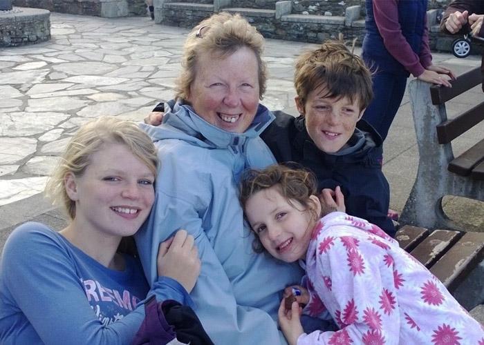 Steve's mum with family