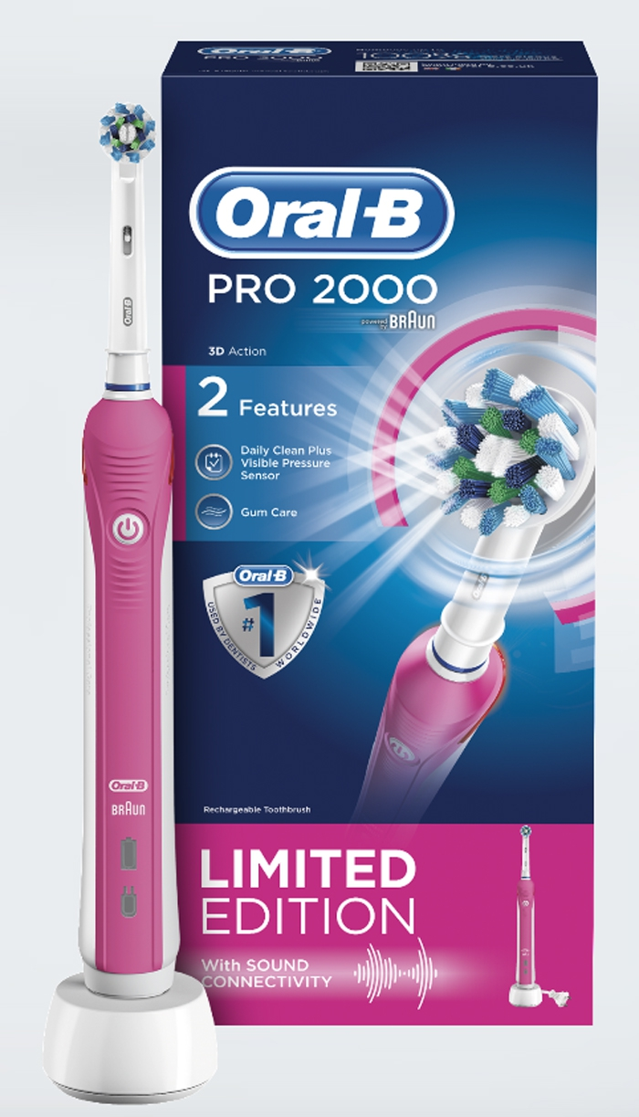 tickled pink oral-b toothbrush