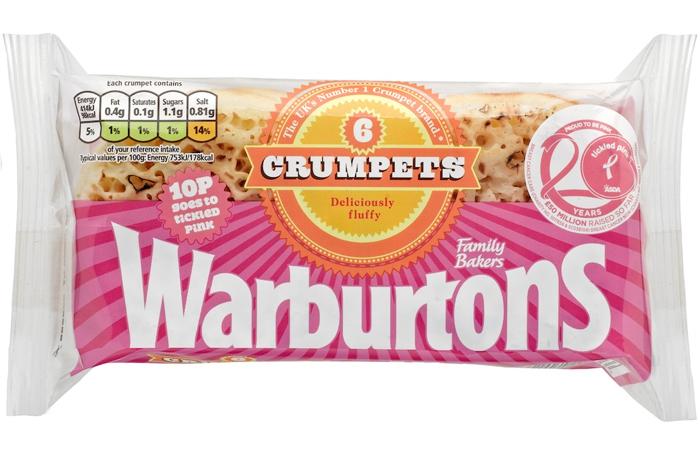 warburtons crumpets tickled pink
