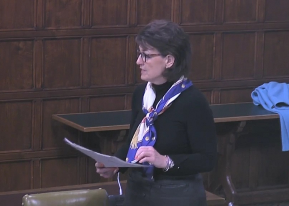 Jo Churchill MP addresses parliament