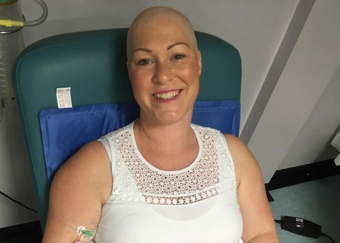 Louisa during treatment
