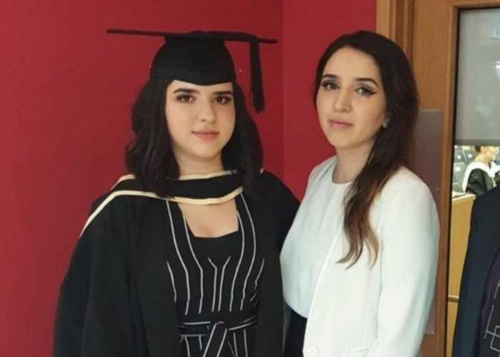 Medina and Nadia pose together at Medina's graduation