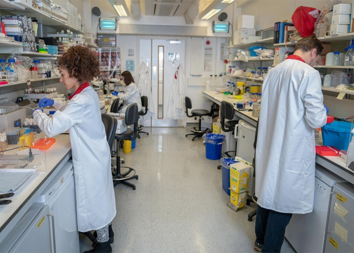 A photograph of one of our research labs