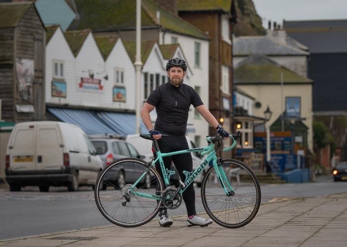 Richard with his bike