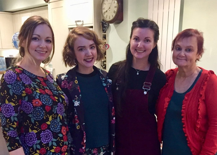 Victoria, her sisters and her mum