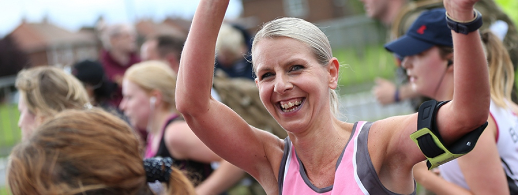 a Breast Cancer Now runner