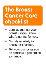 Breast awareness checklist