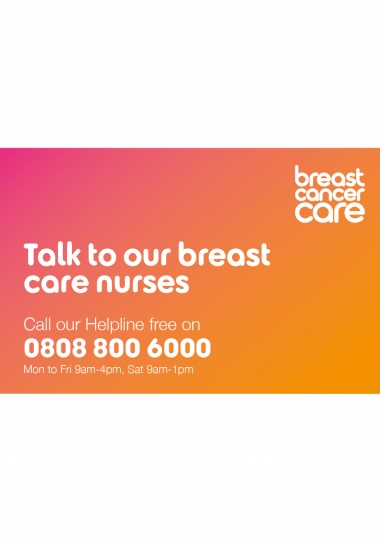 Talk to our breast care nurses