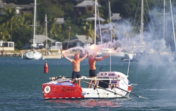 2 boys in a boat raised over £300,000 rowing the Atlantic