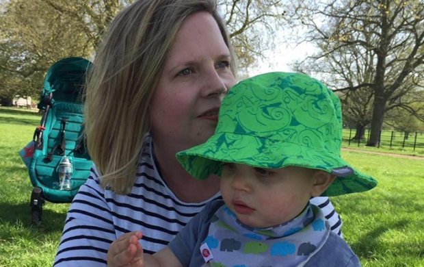 Rachael and her son in the park