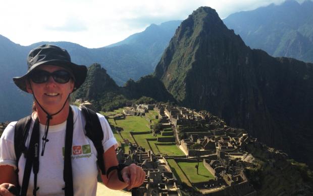Julie stood in front of Machu Picchu