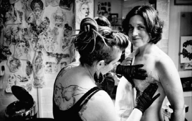 Mastectomy tattoo artist