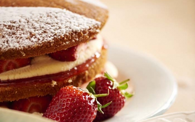 A picture of a Strawberry Sponge