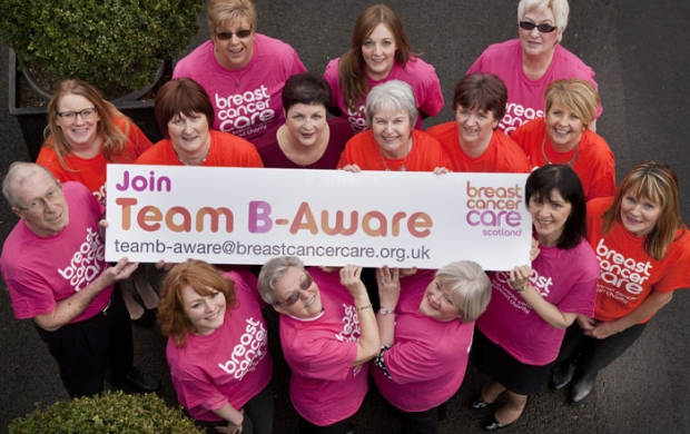 Team B-Aware are part of Breast Cancer Care's B-Aware scheme