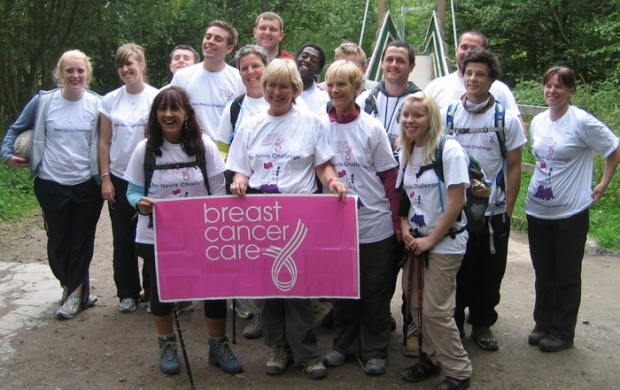 A group taking on the Ben Nevis Trek