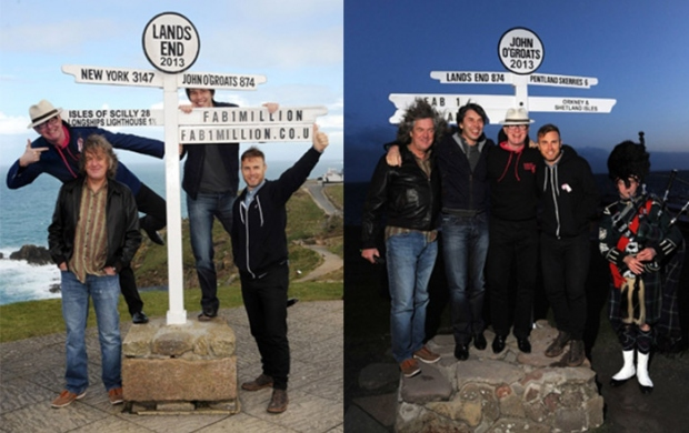 FAB1 Million adventure with Gary Barlow, Brian Cox, Chris Evans, James May