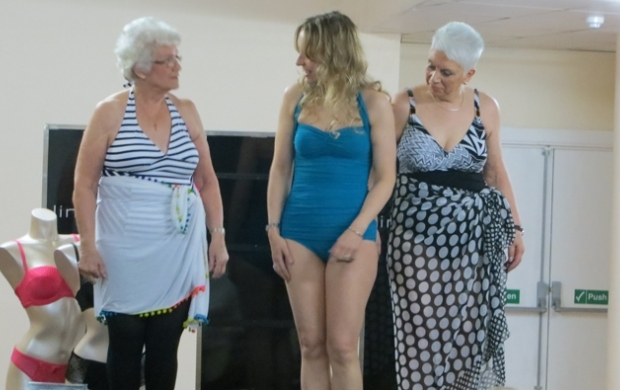 Volunteers modelling at Lingerie Evening