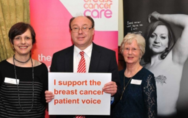 MP event breast cancer voices