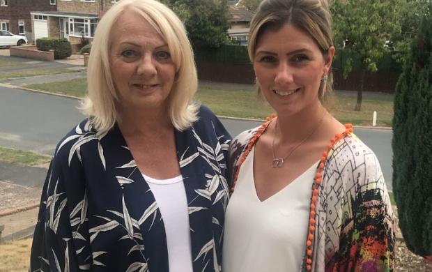 Natalie and her mum