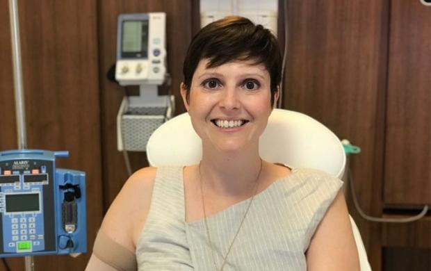 Rebecca having treatment 2019