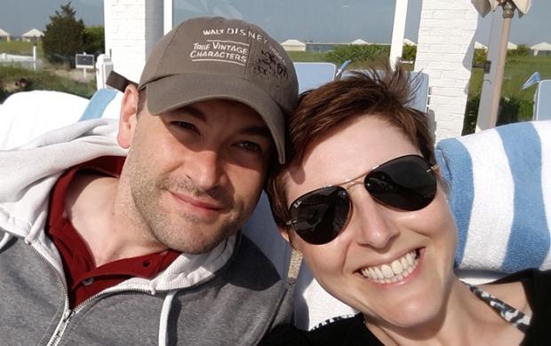 Rebecca and her husband