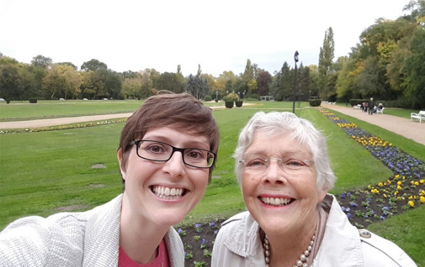 Rebecca and her mum