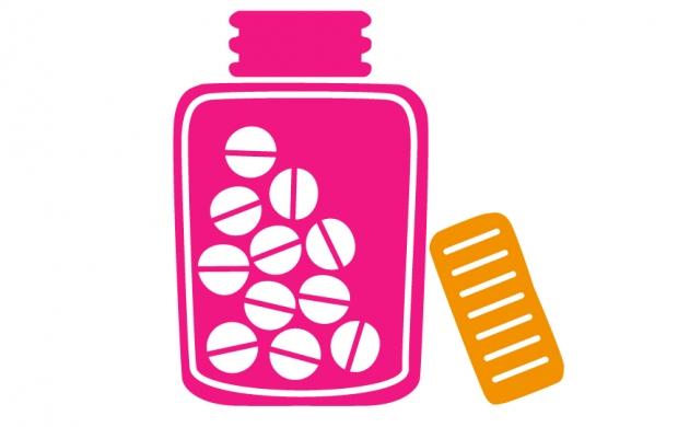 Drug bottle illustration
