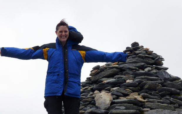 Rebbeca at the top of Snowdon