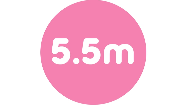 We reached 5.5m people last year