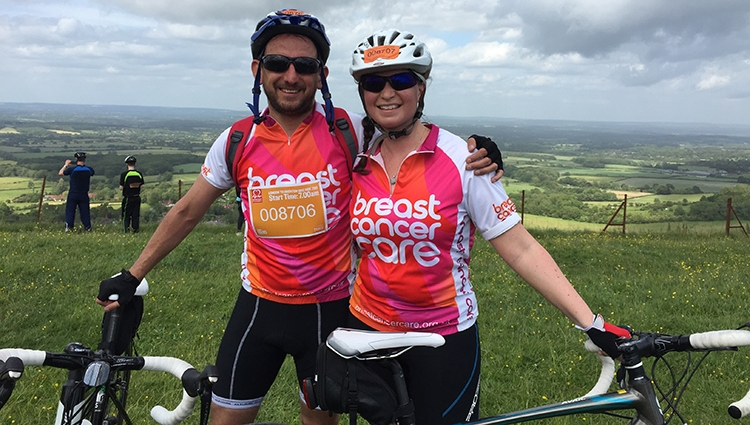 Shellie did a bike ride to fundraise for Breast Cancer Care