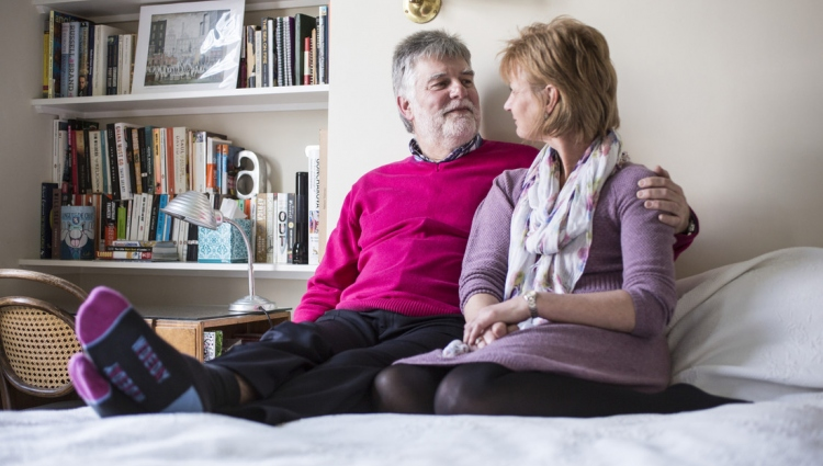 Couple with breast cancer diagnosis