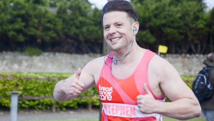 Stephen, a Breast Cancer Care supporter, running to raise money for our work