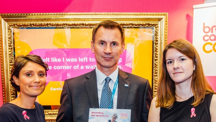 Jeremy Hunt, Jo Myatt and Emma Lavelle