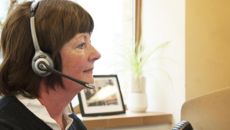 image of nurse using a headset