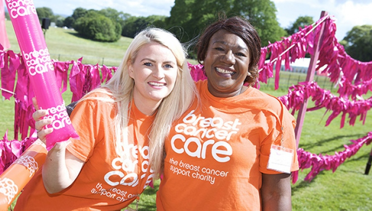 Volunteer at a Pink Ribbon Walk