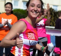 Breast cancer care fundraiser running the 10k