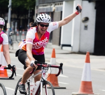 two women taking in RideLondon-Surrey46 for Breast Cancer Care