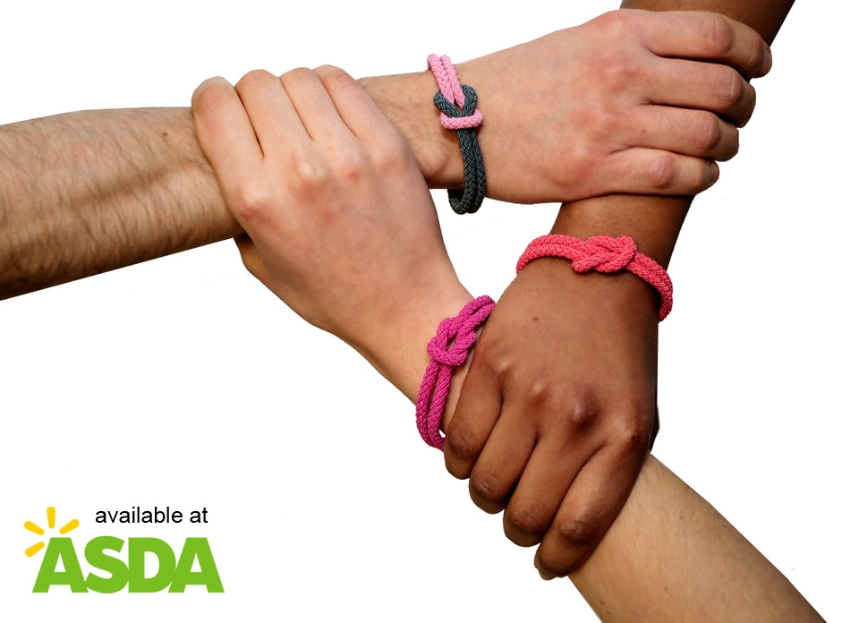 Three different Unity Bands available at Asda