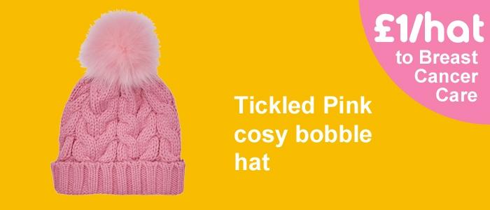 ASDA pink bobble hat