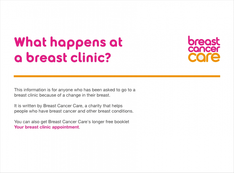 link to What happens at a breast clinic? slides