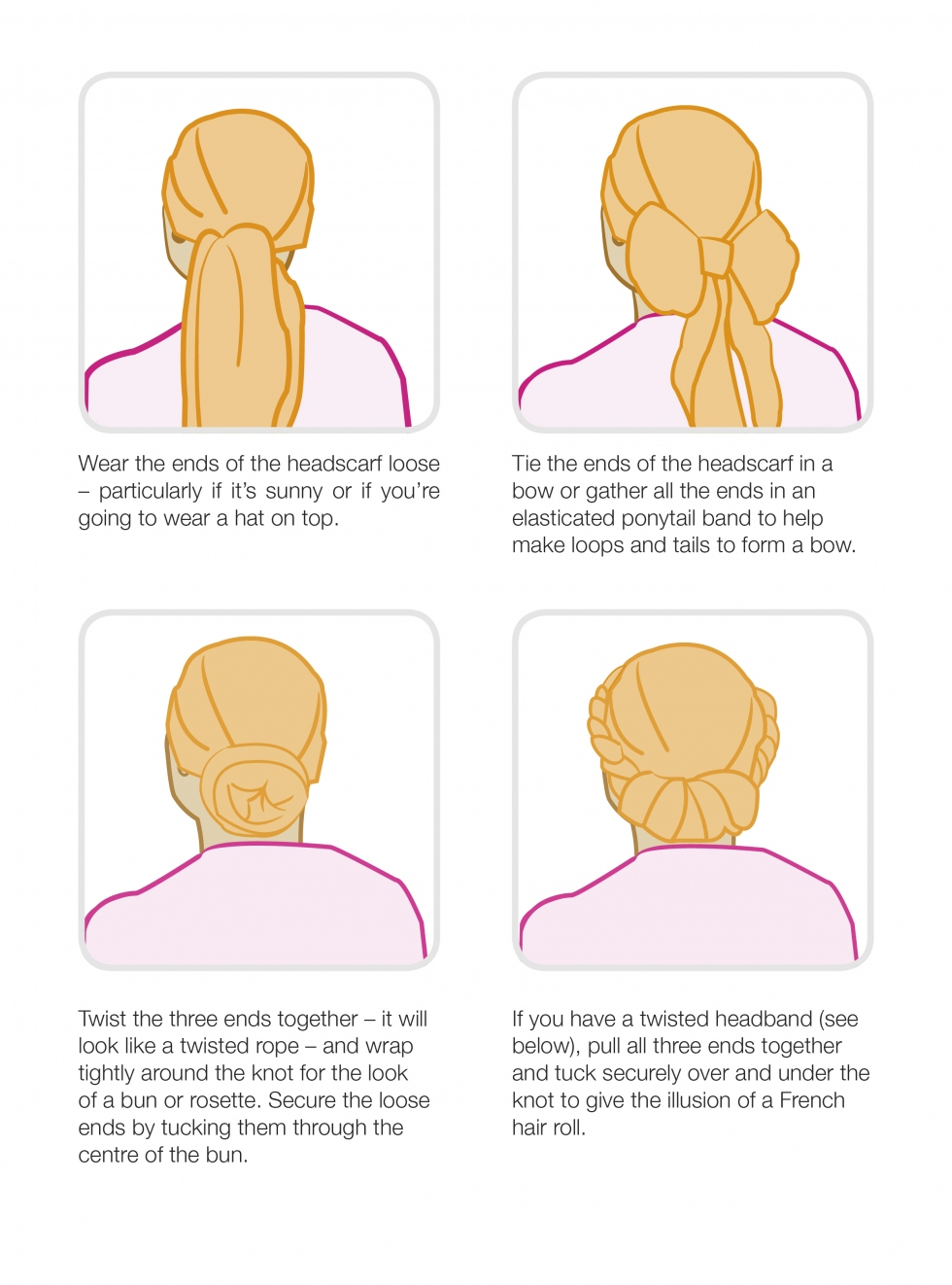 Wigs Scarves And Headwear Breast Cancer Care Scarf Tying Diagram Tips