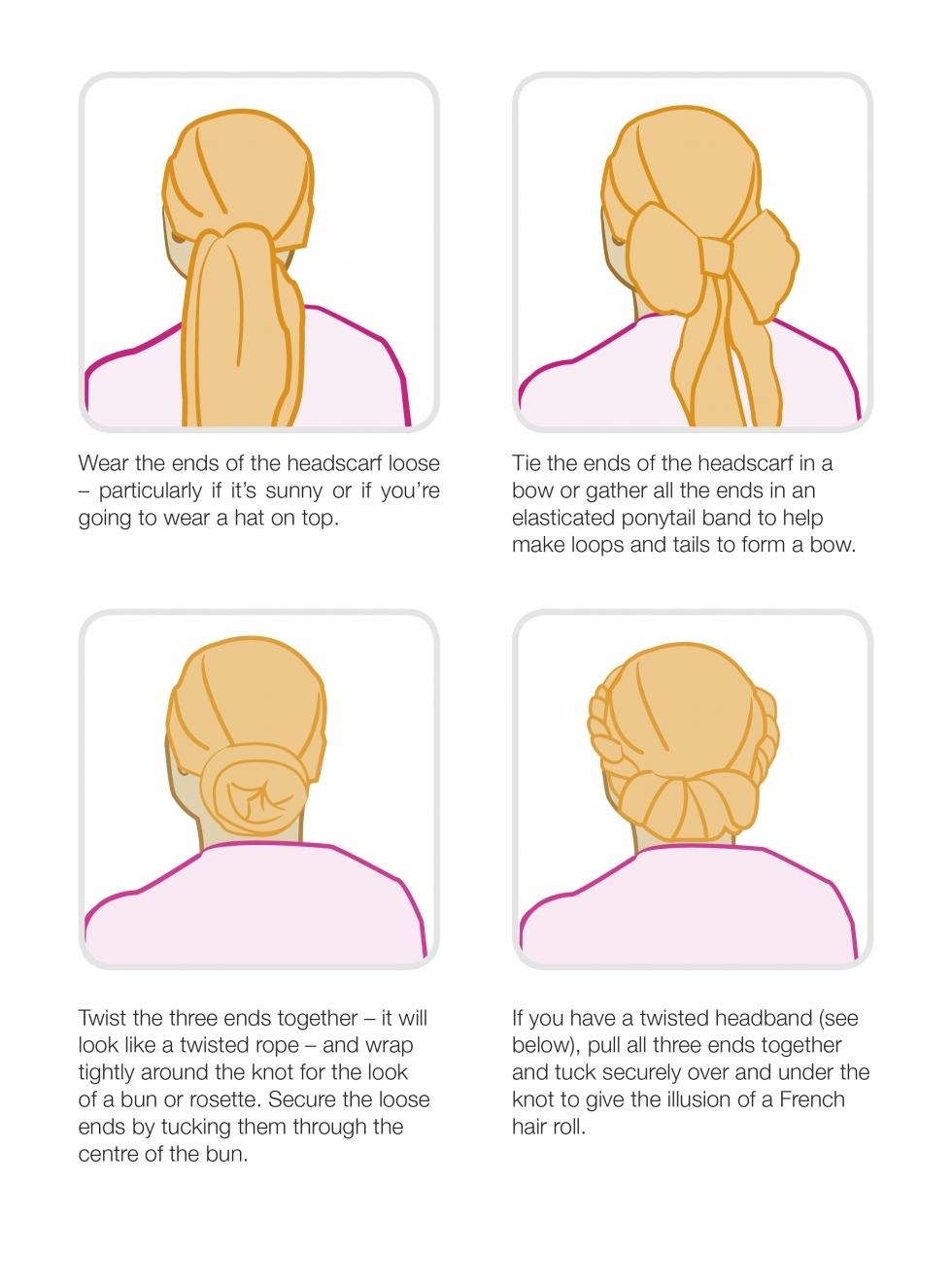 Ways to wear a headscarf