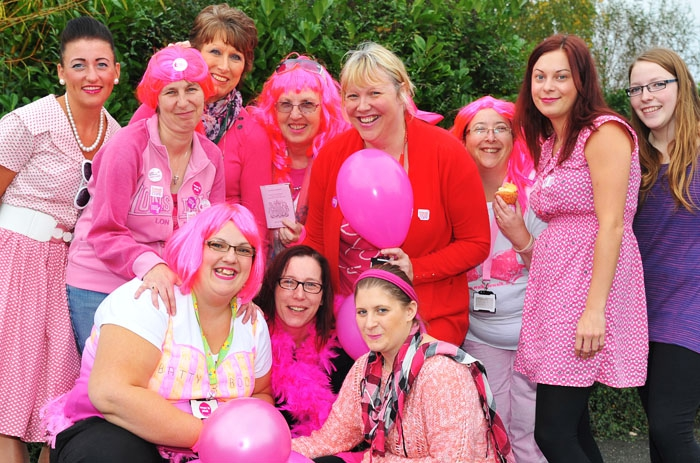 An image of Jane with her Big Pink guests